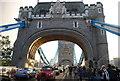 TQ3380 : Starting to cross Tower Bridge by N Chadwick