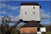 TM0080 : Garboldisham Post Mill - External View by Ashley Dace