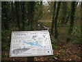 SW6437 : Information board in Pendarves Wood Nature Reserve by Rod Allday