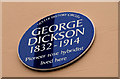 Photo of George Dickson blue plaque