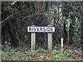 TM2450 : Riverside sign by Adrian Cable