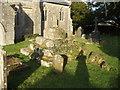 ST5360 : Remains of churchyard cross, Nempnett Thrubwell by John Lord