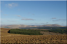 NS5606 : View from NE slopes of Enoch Hill by Leslie Barrie