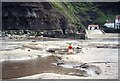 NZ7818 : Paddling towards shore in Staithes harbour by Andy Waddington