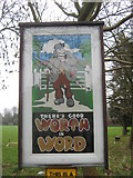 TR3355 : Worth Village Sign by David Anstiss