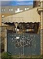 TQ4379 : Platform canopy, former North Woolwich Railway Station : Week 7