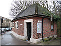TQ4276 : Disused public toilets, Shooters Hill by Stephen Craven