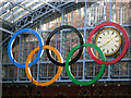 TQ3082 : Olympic rings - St Pancras : Week 9