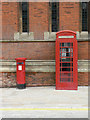 SP2054 : Postbox and phone box by Alan Murray-Rust
