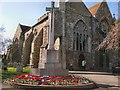 TQ9220 : Rye War Memorial in front of St Mary's church by Paul Gillett