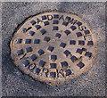 J2968 : Manhole cover, Dunmurry by Rossographer