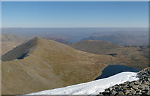 NY3415 : Helvellyn Summit Panorama by Gareth Jones