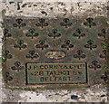 J5082 : Drain cover, Bangor by Rossographer