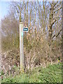 TM3961 : Bridleway sign at the entrance to Red Barn Farm by Adrian Cable