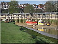 TQ9220 : Boats on River Rother by Oast House Archive