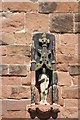 SP1798 : St John the Baptist, Church Tower, Statue by Chris' Buet