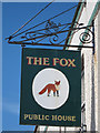 TQ8009 : The Fox sign by Oast House Archive