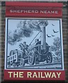 TR3650 : The Railway, Pub Sign, Walmer by David Anstiss
