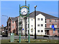 SJ7191 : Partington Millennium Clock by David Dixon