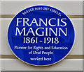 Photo of Francis Maginn blue plaque