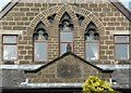 SE0334 : Datestone and windows, former Baptist Chapel, Oxenhope by Humphrey Bolton