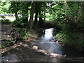 TQ3769 : Stepping stones over The Beck at the northern end of Kelsey Park (2) by Mike Quinn