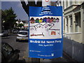 TQ2474 : Street Party sign Mexfield Road by PAUL FARMER