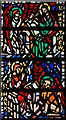 TQ3779 : St Luke, Havannah Street, Millwall - Stained glass window by John Salmon