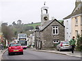 SW9348 : A bus climbs the A390 at Grampound by nick macneill