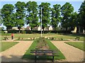 TQ4488 : Ilford War Memorial Gardens Cross by Nigel Cox