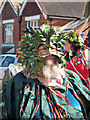 TQ8210 : Green Man at Jack in the Green procession, Collier Road  by Oast House Archive