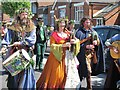 TQ8210 : Musicians at Jack in the Green procession, Collier Road  by Oast House Archive