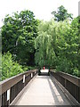 TQ3768 : Footbridge over the southern end of the lake in Kelsey Park by Mike Quinn