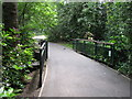 TQ3768 : Footbridge over The Beck south of the lake in Kelsey Park. by Mike Quinn
