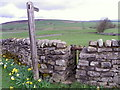 SE0798 : Stile and drystone wall near Nun Cote Farm by Miss Steel