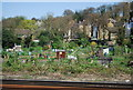 TQ4068 : Allotments by the railway, Bromley by Nigel Chadwick