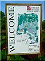 ST5675 : Entrance notice for Bristol Botanic Garden by Anthony O'Neil