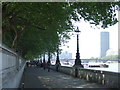TQ3079 : Thames Path near Westminster Bridge by Malc McDonald