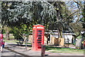 TQ3470 : Telephone Kiosk, Crystal Palace Park by Nigel Chadwick