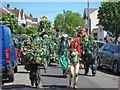 TQ8210 : Front of the Jack in the Green procession by Oast House Archive