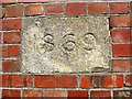 TQ3648 : Datestone on St Stephen's church by Stephen Craven