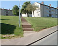 ST2990 : Steps to Wye Crescent flats, Bettws, Newport by John Grayson