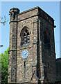 SO8996 : St Philip's Church tower in Penn Fields, Wolverhampton by Roger  Kidd