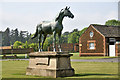TF7028 : Statue of race horse &quot;Persimmon&quot; at Sandringham by Julian Dowse