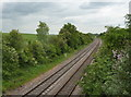 SK5376 : Railway line passing Hodthorpe by Andrew Hill