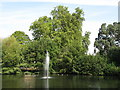 TQ3974 : The lake in Manor House Gardens (2) by Mike Quinn