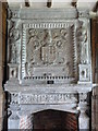 SJ8358 : Detail on chimney breast at Little Moreton Hall by Marion Haworth