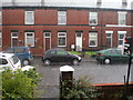 SD8009 : Bury - Handley Street - torrential downpour - 12-8-2010 by Duncan Watts