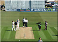 TQ2905 : Sussex v Nottinghamshire: the toss by John Sutton