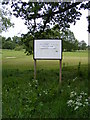 TM2956 : Glevering Mill Golf Course sign by Adrian Cable